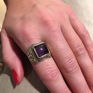 Jewelry - 925 STERLING SILVER AMETHYST RING 8